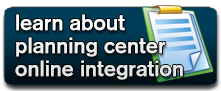 Learn about Planning Center Online Integration